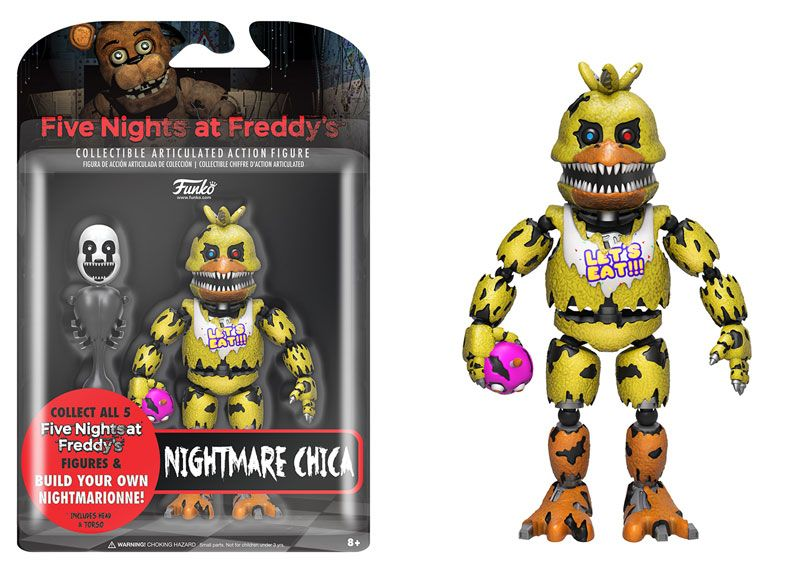 Nightmare Freddy Action Figure Five Nights at Freddy/'s